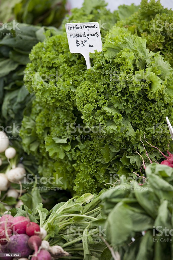Farmers Market fresh produce and vegetables stock photo