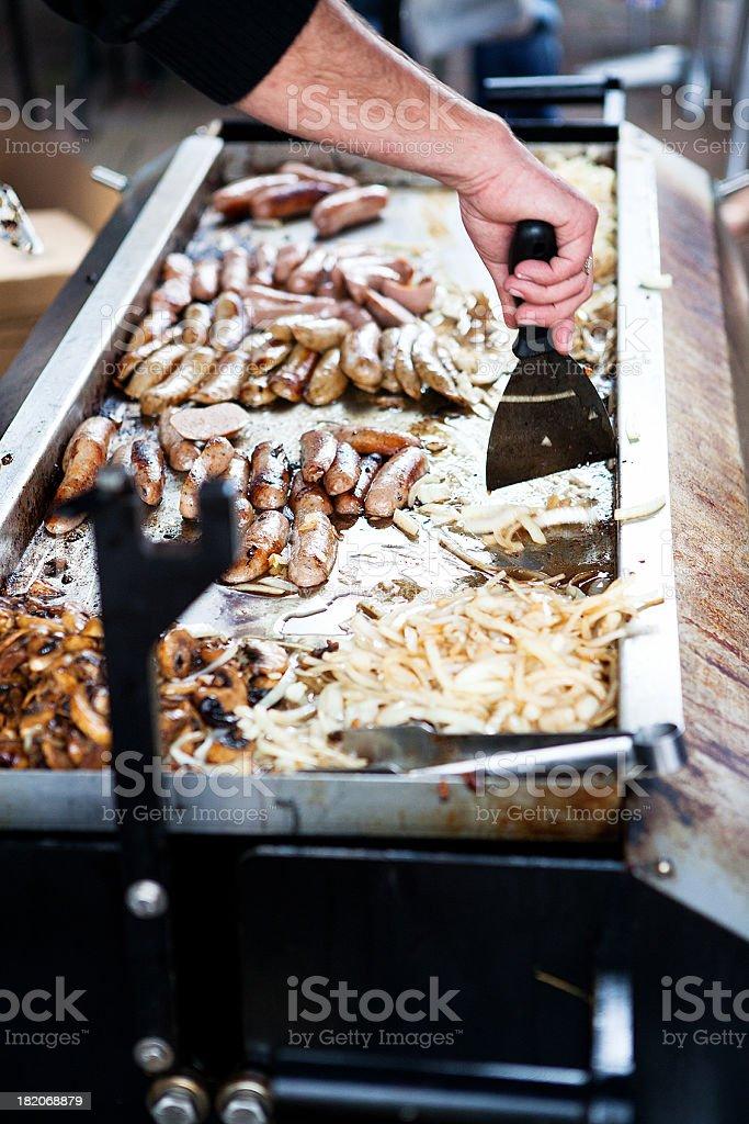 farmers market grill royalty-free stock photo