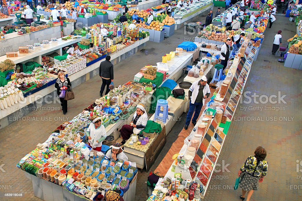 Farmers Market 'Gulistan' in Ashgabad stock photo