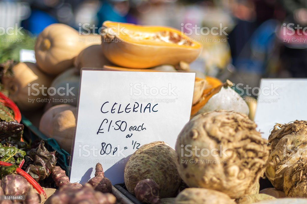 Farmers market in England stock photo