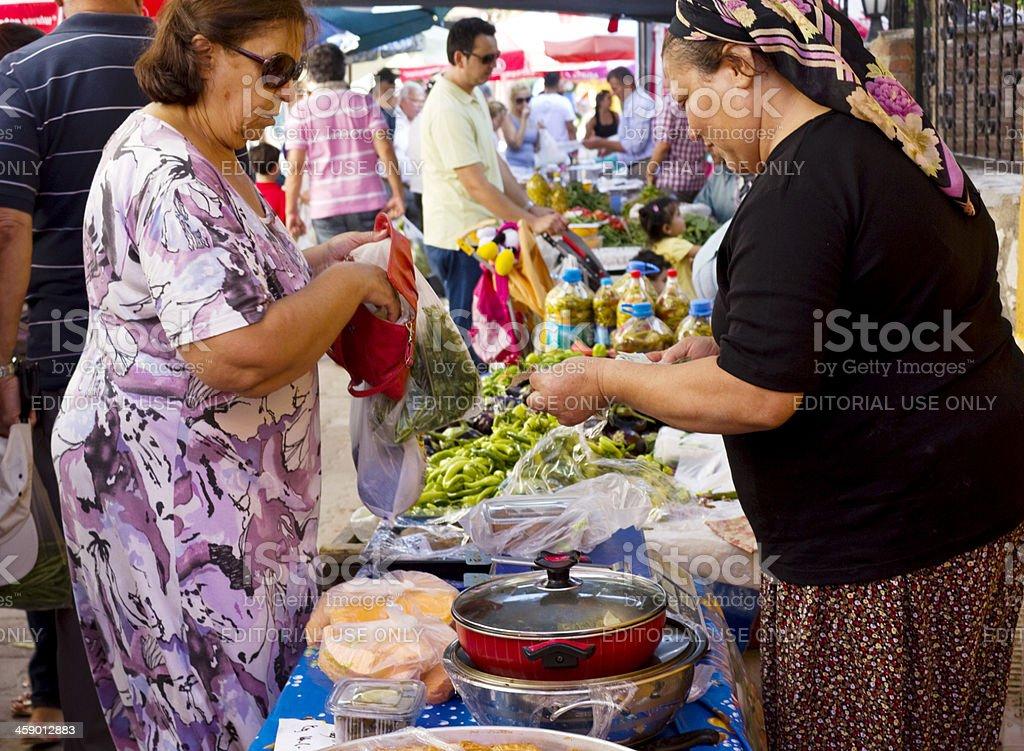 Farmer's market, Izmir, Turkey royalty-free stock photo