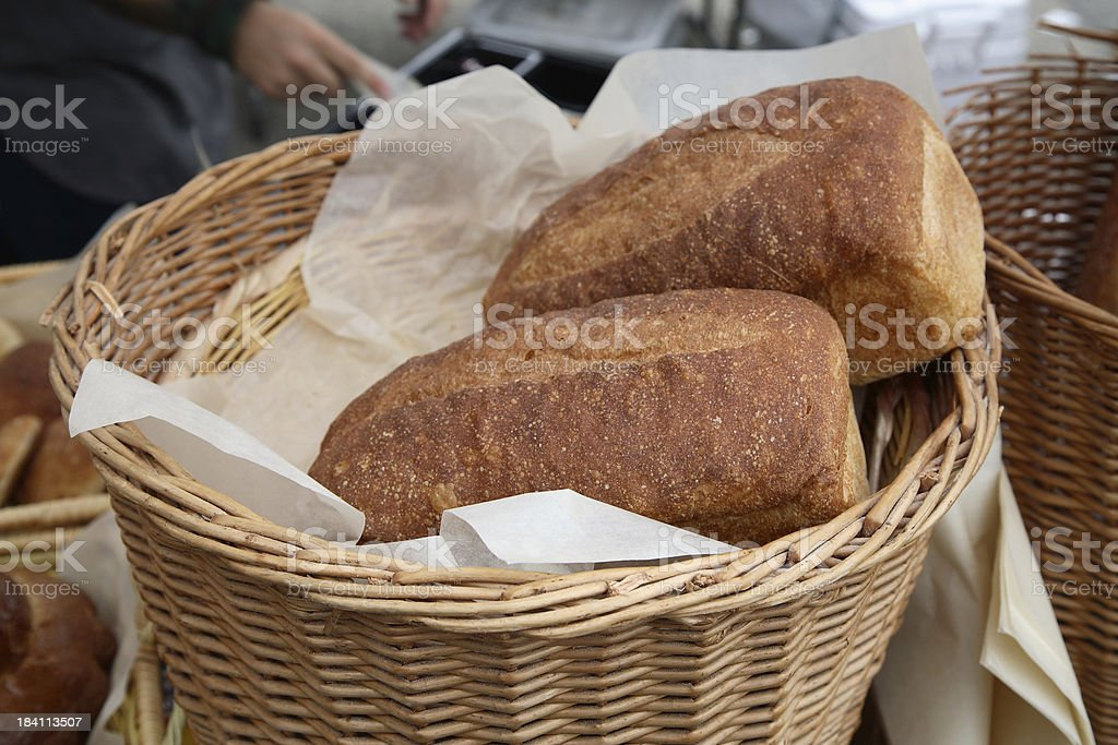Farmers Market: Loaves of Bread royalty-free stock photo