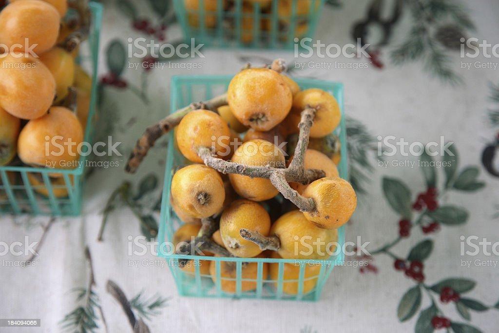 Farmers Market: Loquats royalty-free stock photo