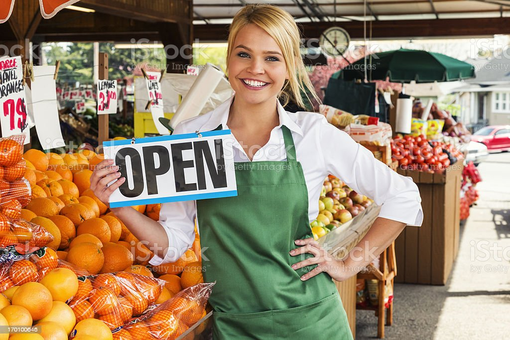 Farmers Market Open for Business royalty-free stock photo