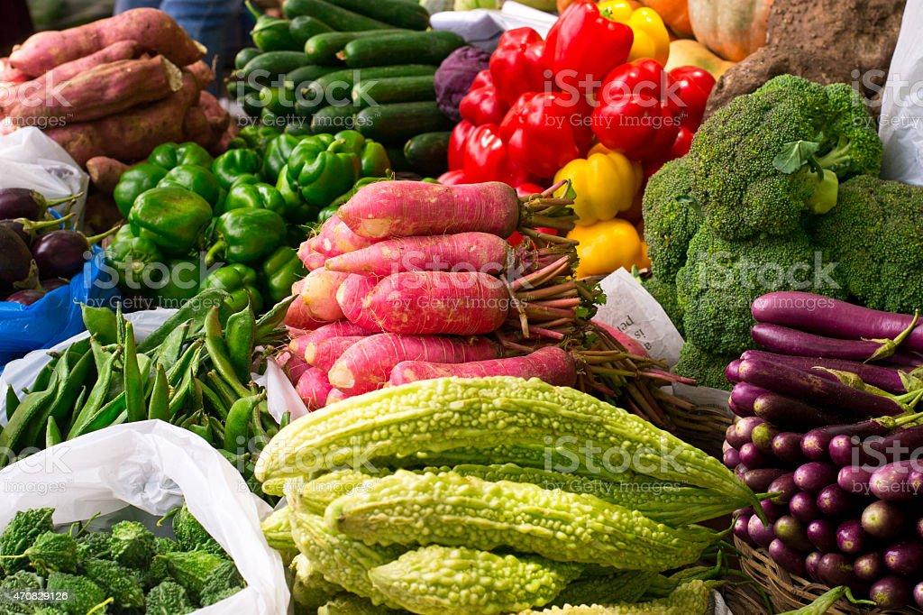 Farmer's Market - Organic Vegetables stock photo