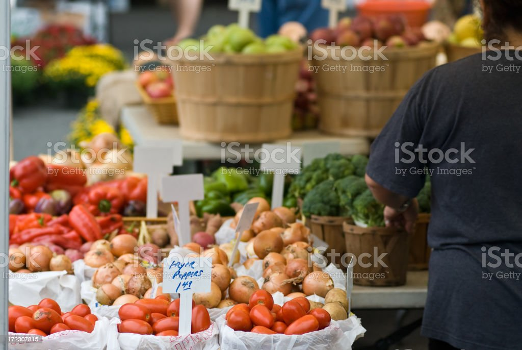 Farmers' Market royalty-free stock photo