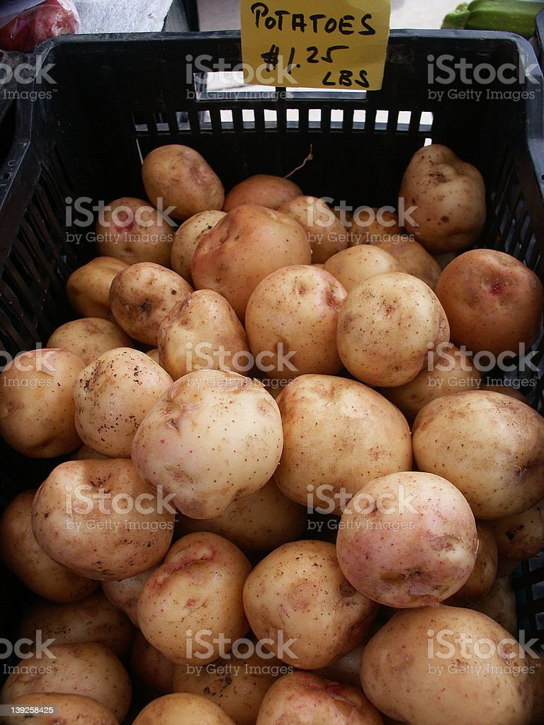 Farmers' Market Potatoes for Sale royalty-free stock photo