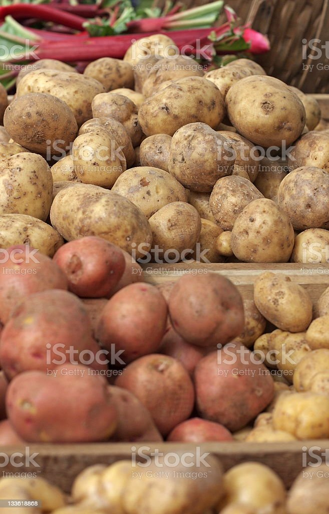 Farmer's Market Potatoes stock photo