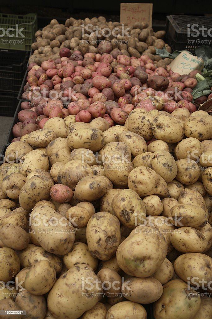 Farmers Market: Potatoes royalty-free stock photo