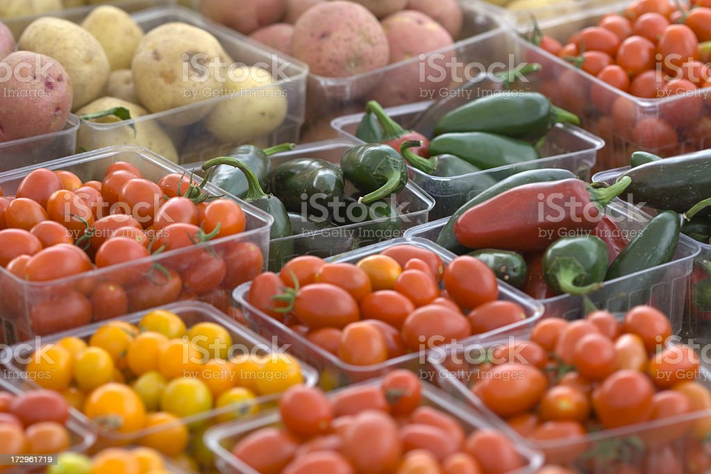 Farmers Market Produce royalty-free stock photo