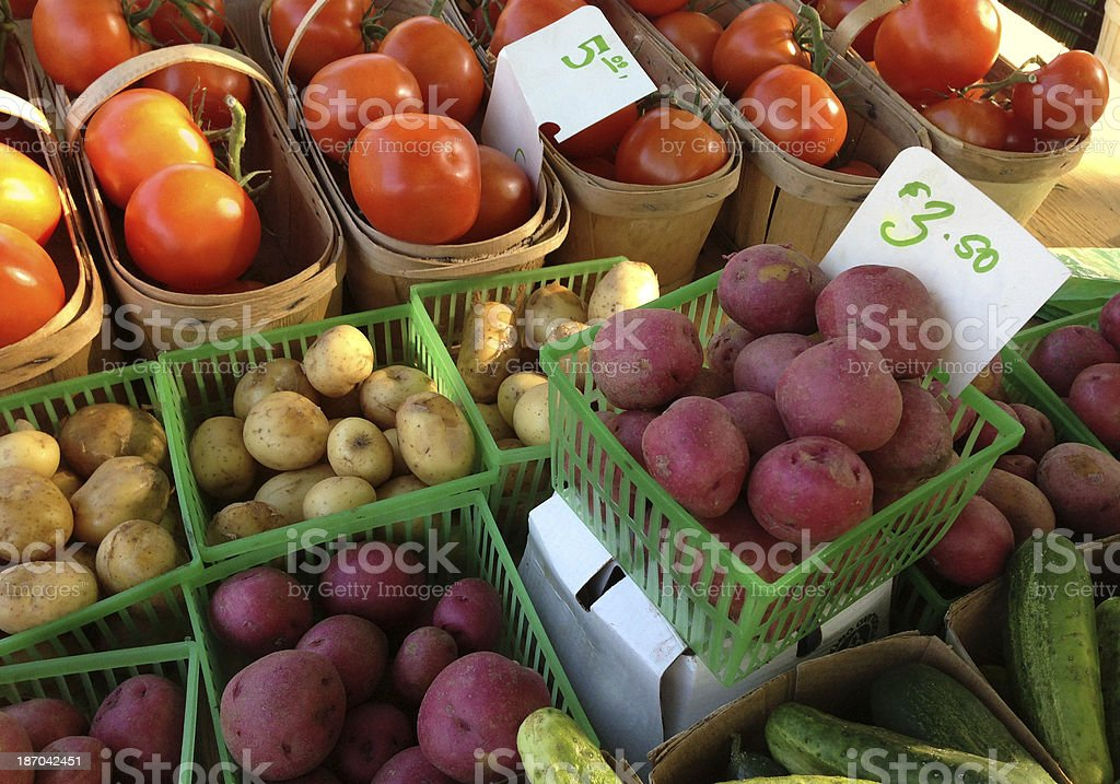 Farmer's market produce royalty-free stock photo