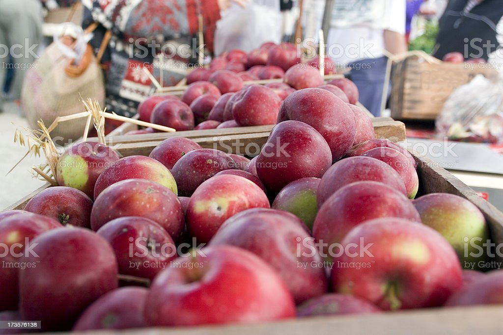 Farmers Market: Red Apples royalty-free stock photo