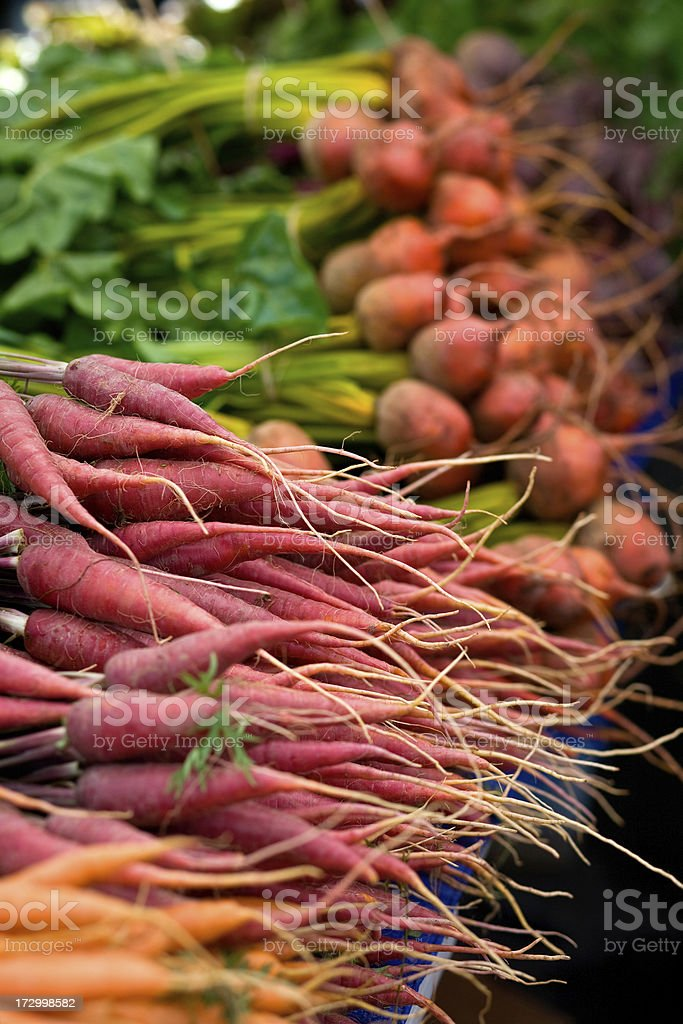 Farmer's Market - Root Vegetables stock photo