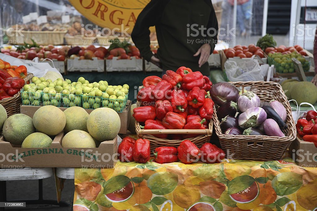 Farmers Market: Shopping royalty-free stock photo