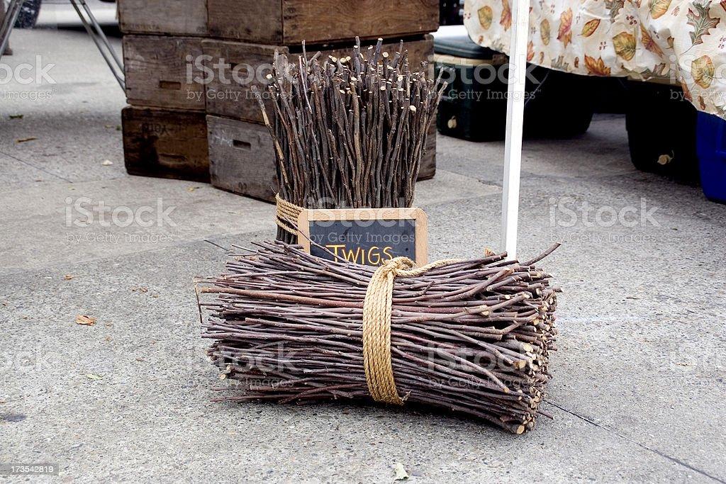 Farmers Market: Twigs royalty-free stock photo