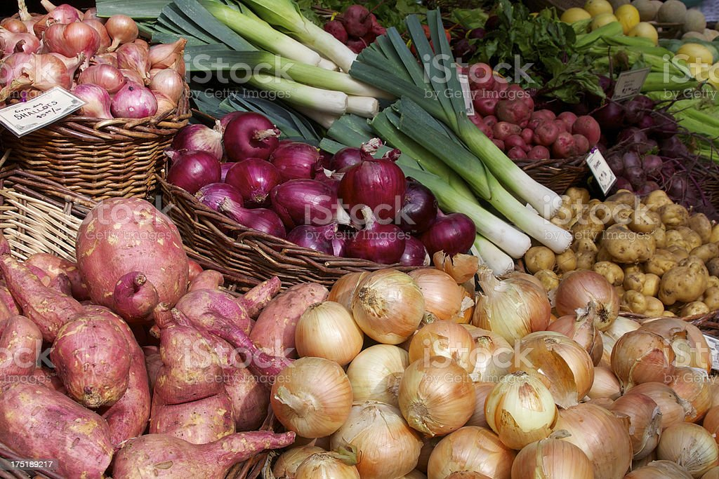 Farmer's market vegetables royalty-free stock photo