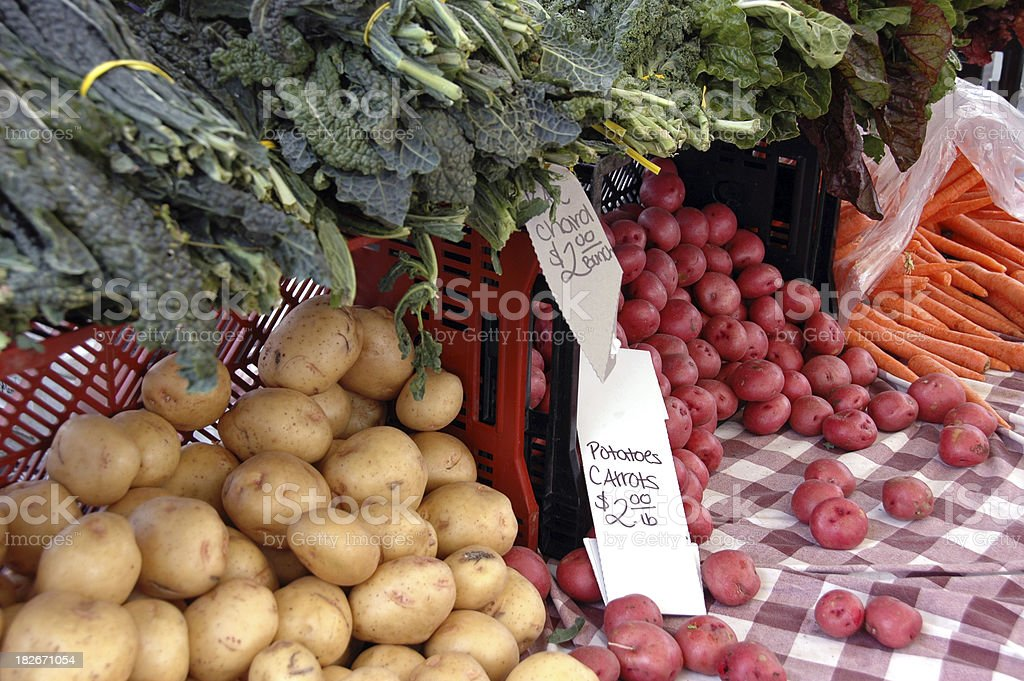 Farmers Market Vegetables royalty-free stock photo