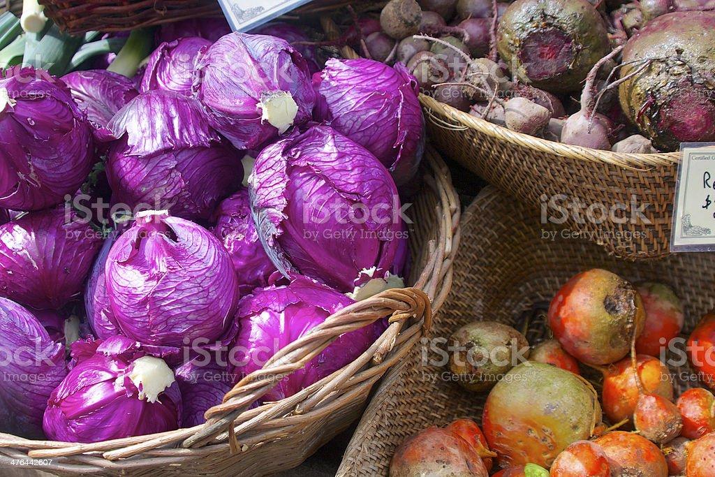 Farmers market vegetables stock photo