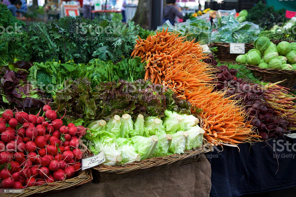 Farmer's market vegetables stock photo
