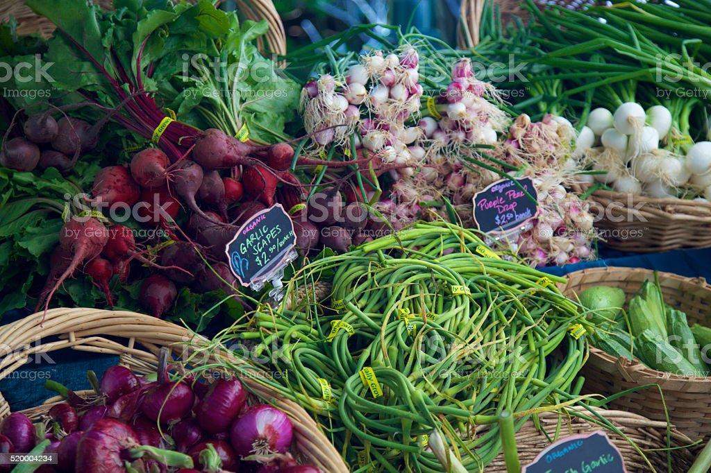 Farmer's market veggies stock photo