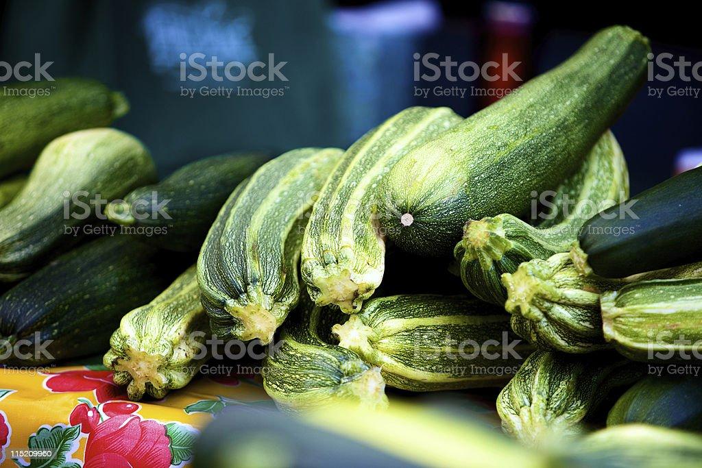 Farmer's market zucchini squash royalty-free stock photo