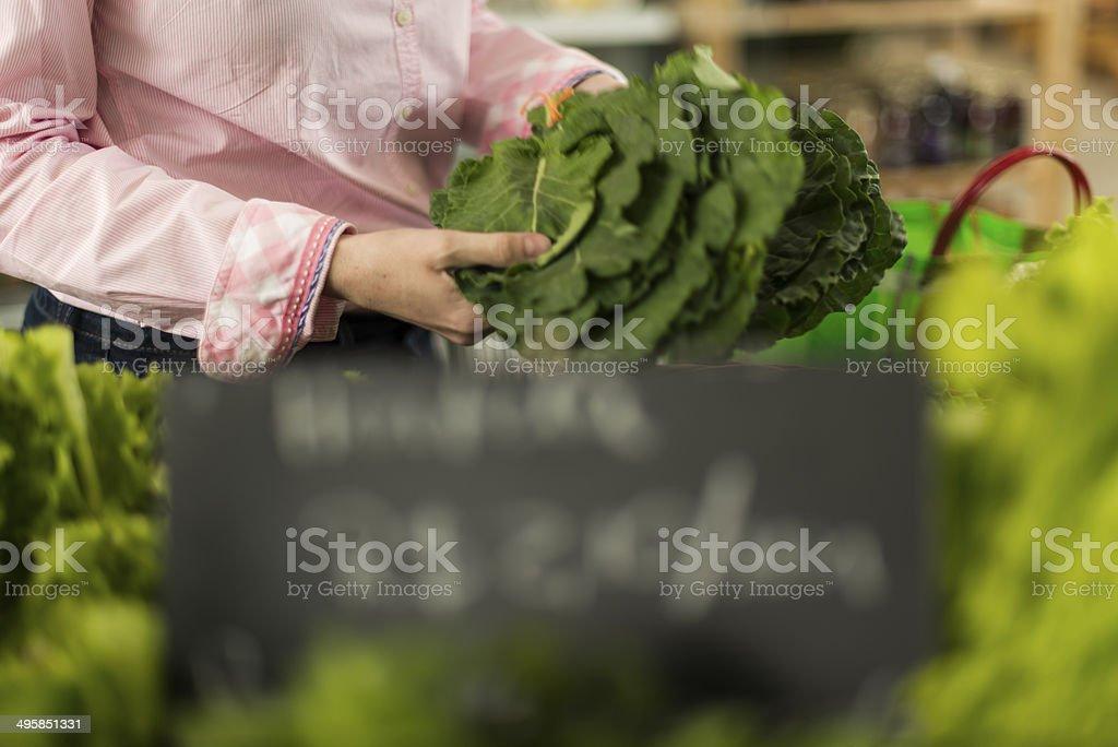 Farmer's organic market stock photo