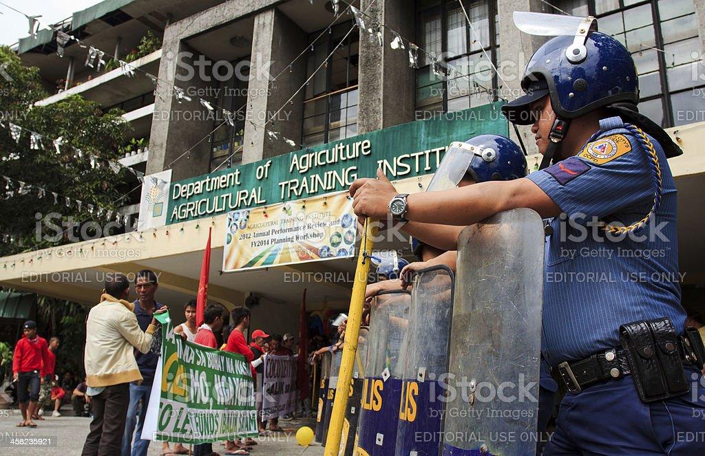 Farmers protest stock photo