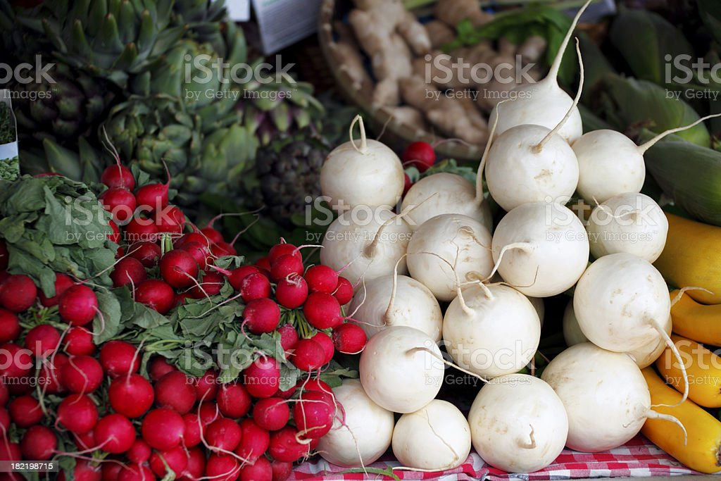 Farmer's Vegetable Market royalty-free stock photo