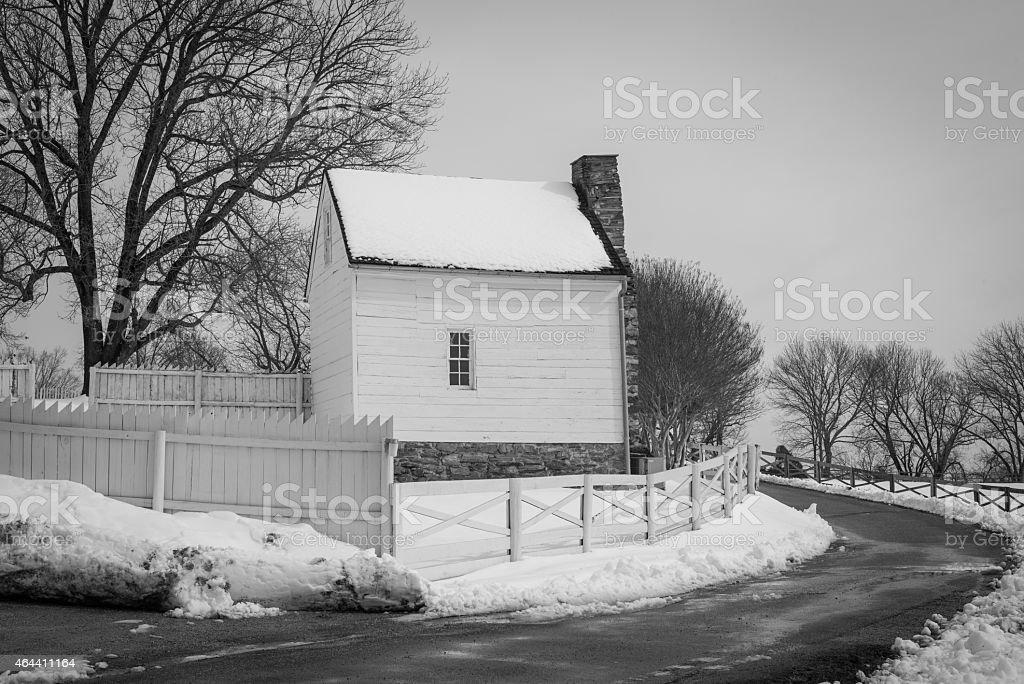 Farmhouse built in 1700's stock photo