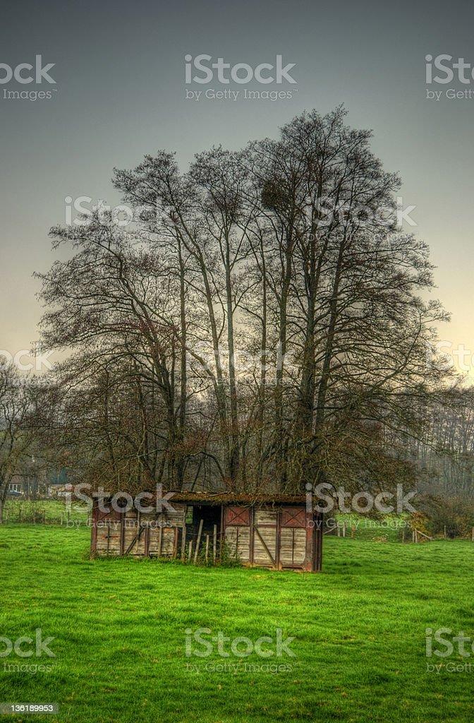 Farmhouse in Jura, France royalty-free stock photo
