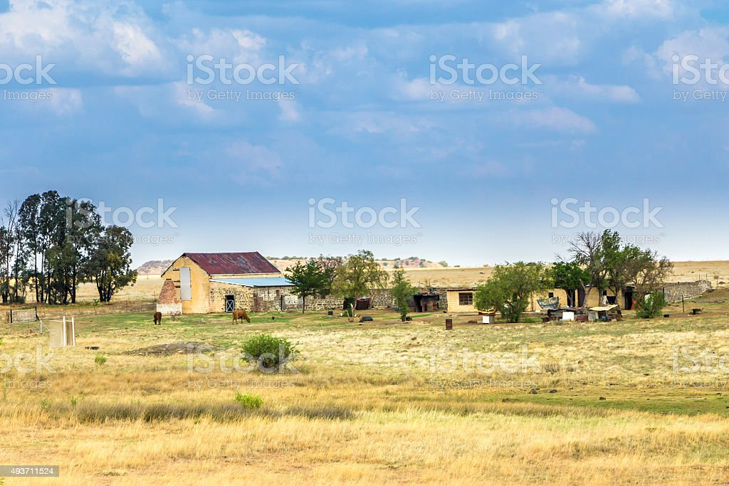 Farmhouse in the Free State, South Africa stock photo