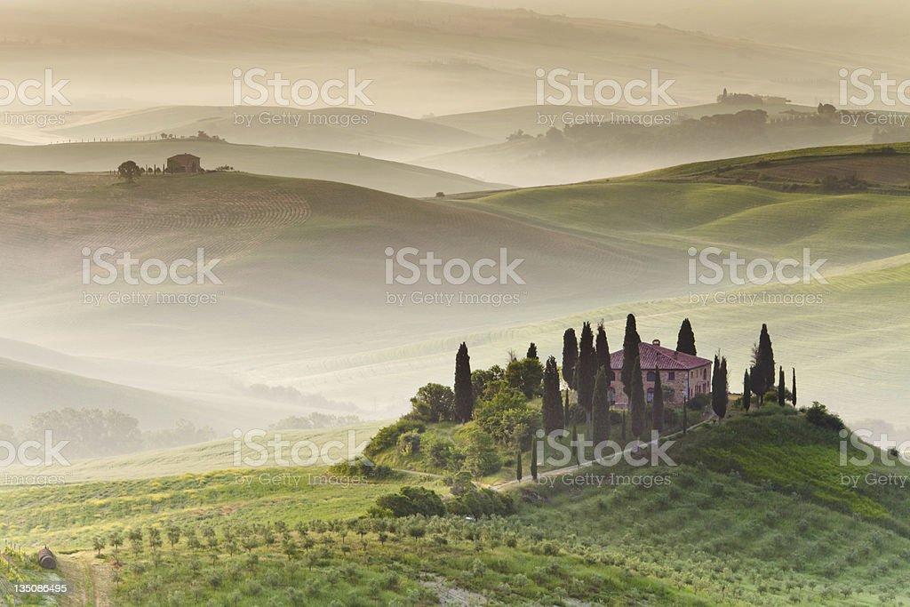 Farmhouse in Tuscany royalty-free stock photo