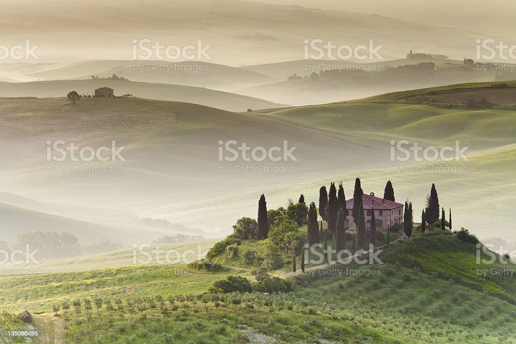 Farmhouse in Tuscany stock photo