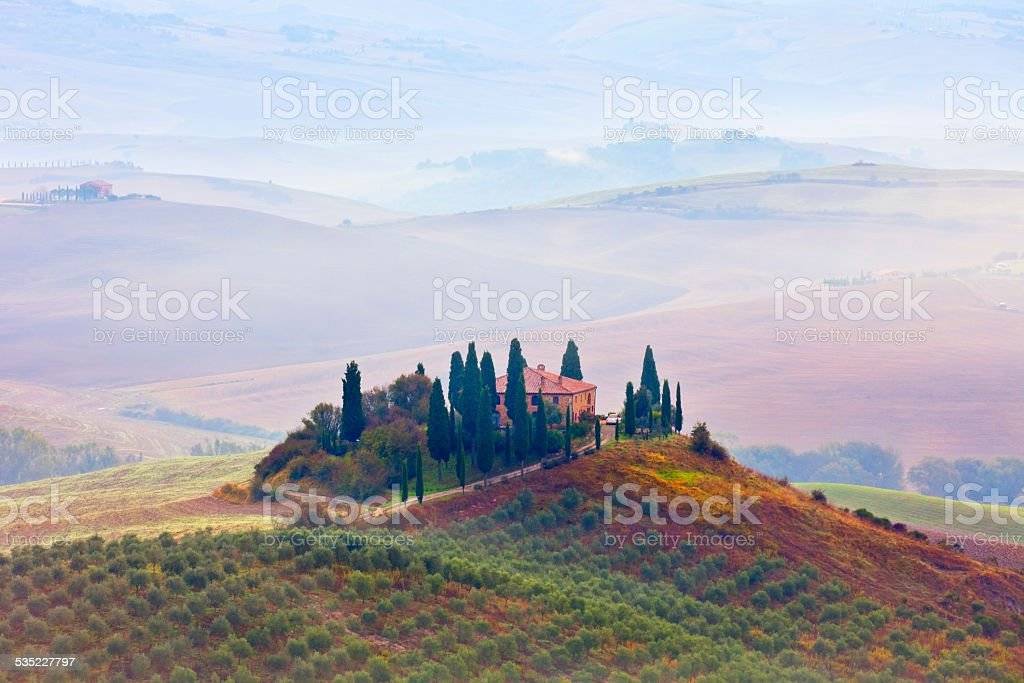 Farmhouse in Tuscany stock photo
