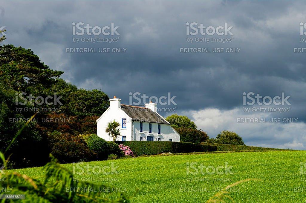 Farmhouse in West Cork Ireland stock photo