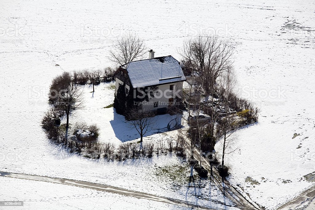 Farmhouse In  Winter royalty-free stock photo