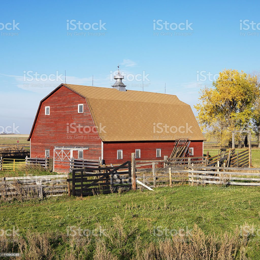 Farmhouse landscape. royalty-free stock photo