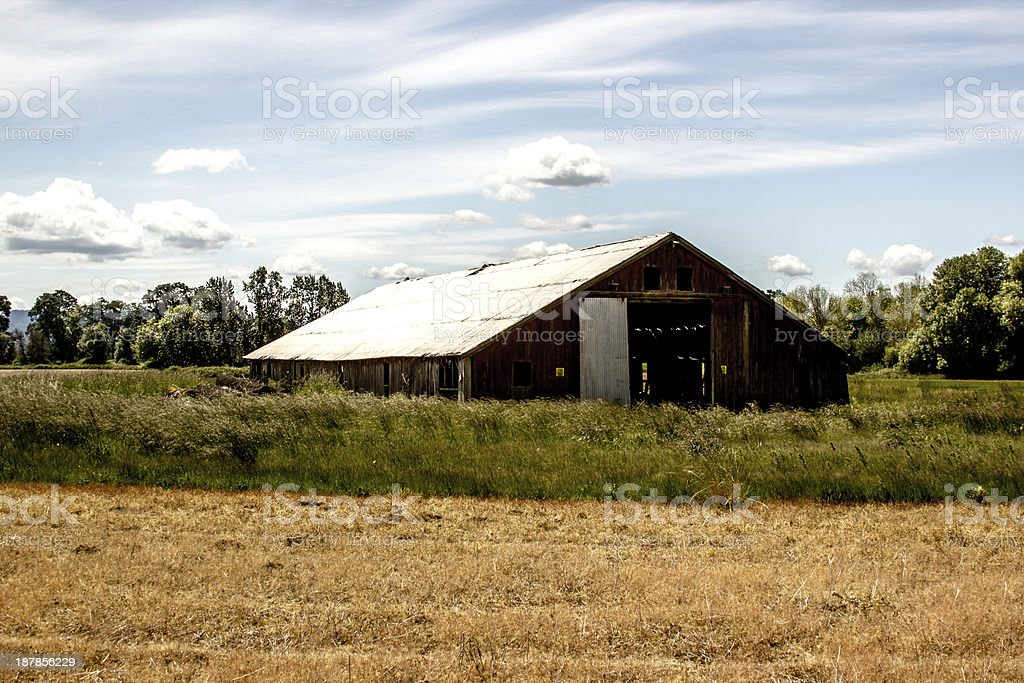 Farmhouse on Sauvie Island stock photo