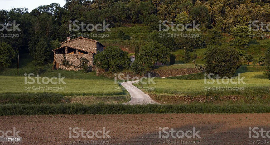 Farmhouse royalty-free stock photo