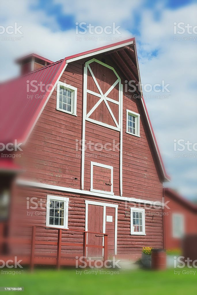Farmhouse stock photo