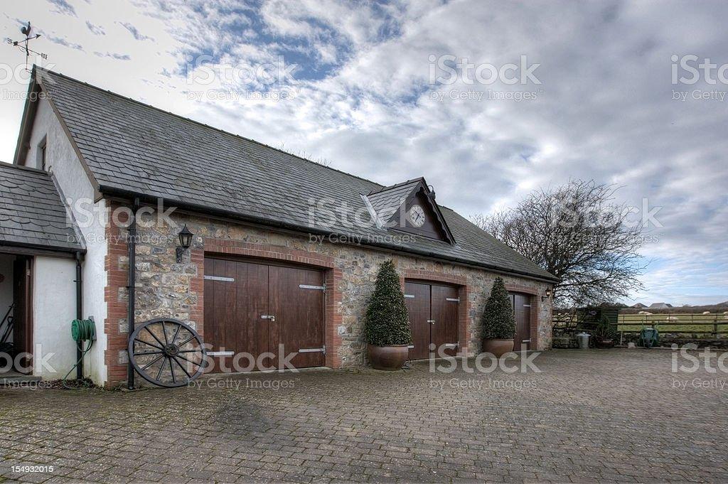 Farmhouse stables conversion stock photo