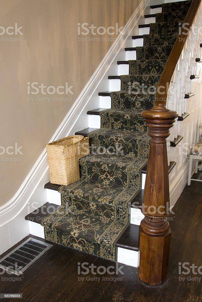 Farmhouse Staircase stock photo