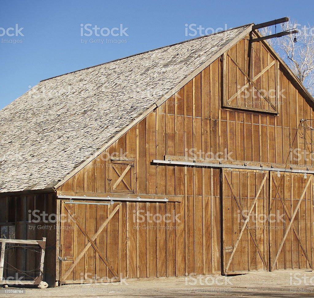 Farmhouse Wooden Barn stock photo