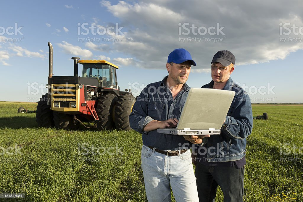 Farming and Computer royalty-free stock photo