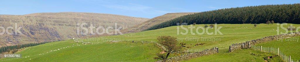 Farming country, mountain horizon stock photo
