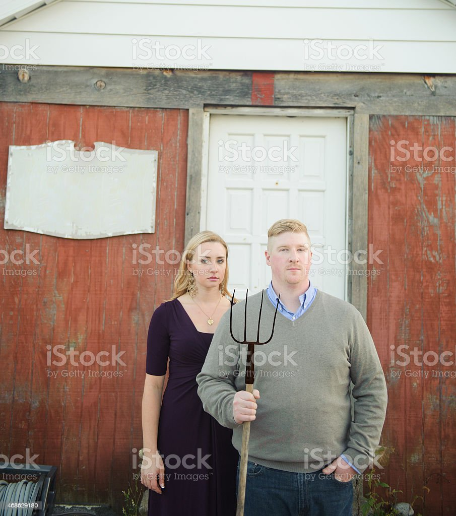Farming Couple stock photo