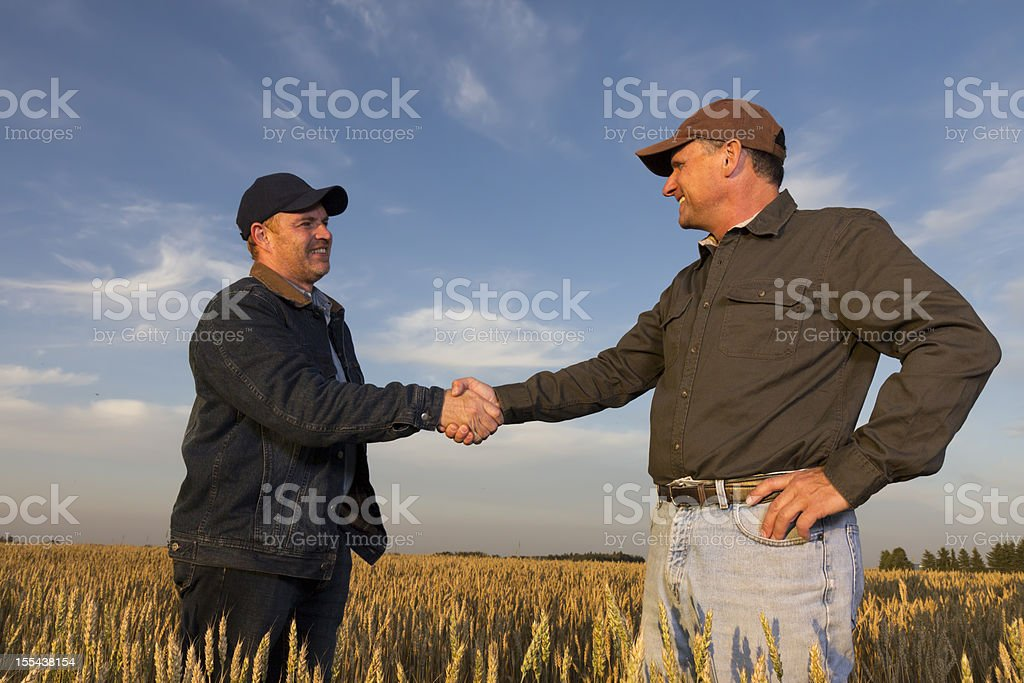 Farming Handshake royalty-free stock photo