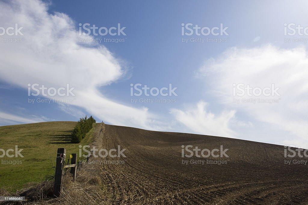 Farming In Palouse Mountains royalty-free stock photo