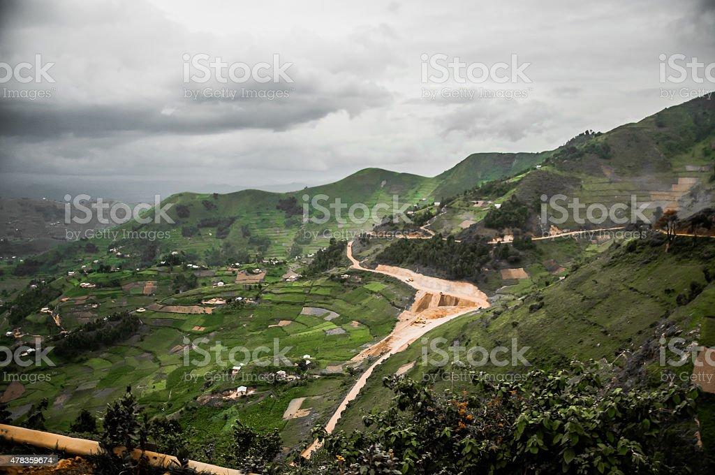 Farming Landscape in the Kibale District stock photo