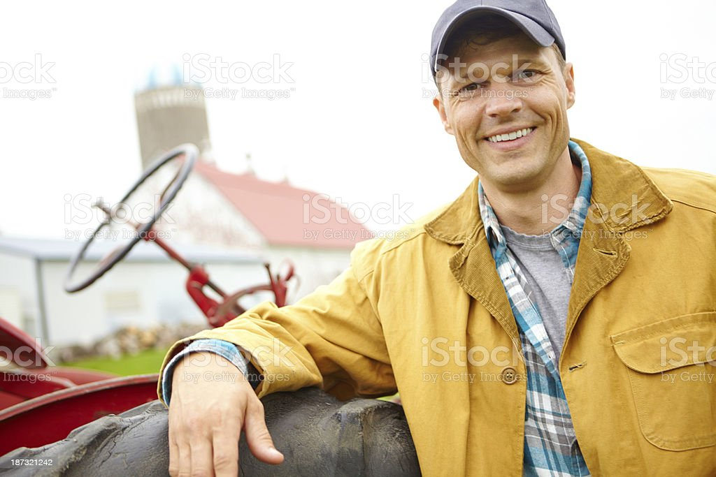 Farming made easy thanks to modern machinery royalty-free stock photo